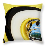 1937 Cord 812 Phaeton Wheel Rim Reflecting Cadillac Throw Pillow