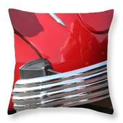 1937 Desoto Chrome Bumper-7249 Throw Pillow