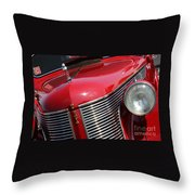 1937 Desoto Front Grill And Head Light 7285 Throw Pillow