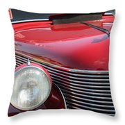 1937 Desoto Front Grill And Head Light-7289 Throw Pillow