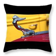 1937 Desoto Hood Ornament-7277 Throw Pillow