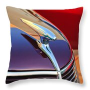 1937 Ford Hood Ornament 2 Throw Pillow