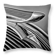 1937 Hudson Terraplane Sedan Hood Ornament 3 Throw Pillow