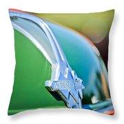 1937 International D-2 Station Wagon Hood Emblem -2652c Throw Pillow