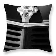 1937 International D2 Pickup Truck Grille Emblem Throw Pillow