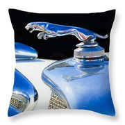1937 Jaguar Prototype Hood Ornament -386c55 Throw Pillow