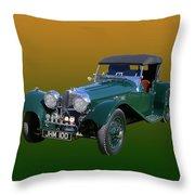 1937 Jaguar S S Onehundred  Throw Pillow