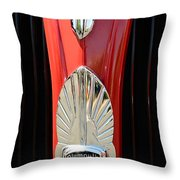1937 Plymouth  Emblem Throw Pillow