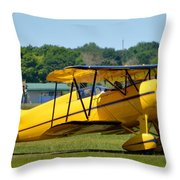 1937 Waco Vpf-7 Throw Pillow