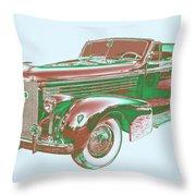 1938 Cadillac Lasalle Antique Pop Art Throw Pillow