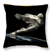 1938 Cadillac Mascot Throw Pillow