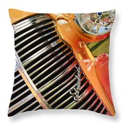 1938 Chevrolet Coupe Grille Emblems Throw Pillow
