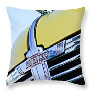 1938 Chevrolet Coupe Hood Ornament -0216c Throw Pillow