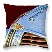 1938 Dodge Ram Hood Ornament 3 Throw Pillow by Jill Reger