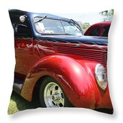 1938 Ford Two Door Sedan Throw Pillow