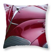 1938 Lincoln-zephyr Convertible Coupe Grille - Hood Ornament - Emblem Throw Pillow