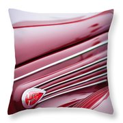 1938 Lincoln-zephyr Convertible Coupe Side Emblem Throw Pillow