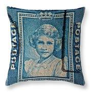 1938 Queen Elizabeth II Newfoundland Stamp Throw Pillow
