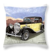 1939 Bentley Mark Four Sport Sedan Throw Pillow