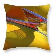 1939 Chevy Hood Ornament Throw Pillow