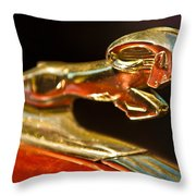 1939 Dodge Business Coupe V8 Hood Ornament Throw Pillow by Jill Reger