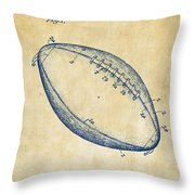 1939 Football Patent Artwork - Vintage Throw Pillow