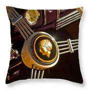 1939 Ford Standard Woody Steering Wheel Throw Pillow