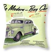 1939 Imperial Vintage Automobile Ad Throw Pillow