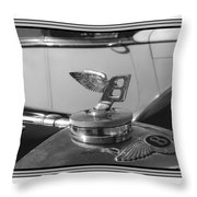 1939 M K 4 Bentley Flying B Mascot Throw Pillow