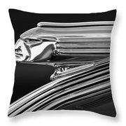 1939 Pontiac Silver Streak Hood Ornament 3 Throw Pillow