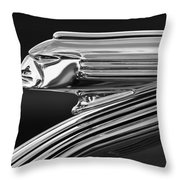 1939 Pontiac Silver Streak Hood Ornament 3 Throw Pillow