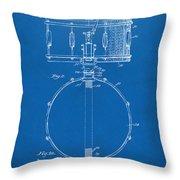 1939 Snare Drum Patent Blueprint Throw Pillow