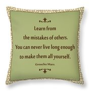 194- Groucho Marx Throw Pillow