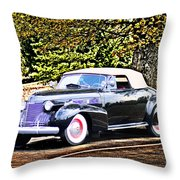 1940 Cadillac Coupe Convertible Throw Pillow