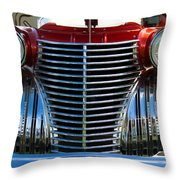 1940 Cadillac Coupe Front View Throw Pillow