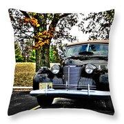 1940 Cadillac Coupe Throw Pillow