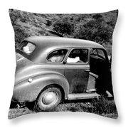 1940 Chevrolet Special Deluxe 4 Door Throw Pillow