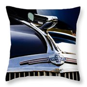 1940 Chevy Coupe Hood Ornament Throw Pillow