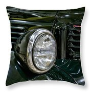 1940 Dodge Pickup Headlight Grill Throw Pillow