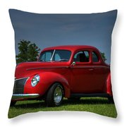 1940 Ford Coupe Throw Pillow