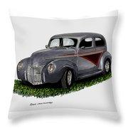 1940 Ford Custom Street Rod Throw Pillow