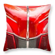 1940 Ford Deluxe Coupe Grille Throw Pillow