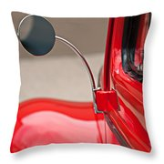 1940 Ford Deluxe Coupe Rear View Mirror Throw Pillow