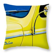 1940 Ford Deluxe Side Emblem Throw Pillow