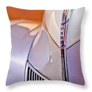 1940 Ford Hood Ornament Throw Pillow
