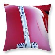 1940 Ford V8 Hood Ornament -323c Throw Pillow