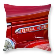 1940 Gmc Side Emblem Throw Pillow