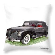 Lincoln Zephyr Cabriolet Throw Pillow