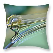 1940 Oldsmobile Hood Ornament Throw Pillow