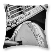 1940 Plymouth Deluxe Woody Wagon Steering Wheel Emblem -0116bw Throw Pillow